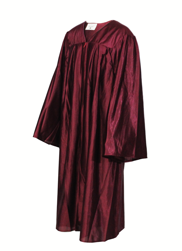 Shiny Maroon Choir Gown