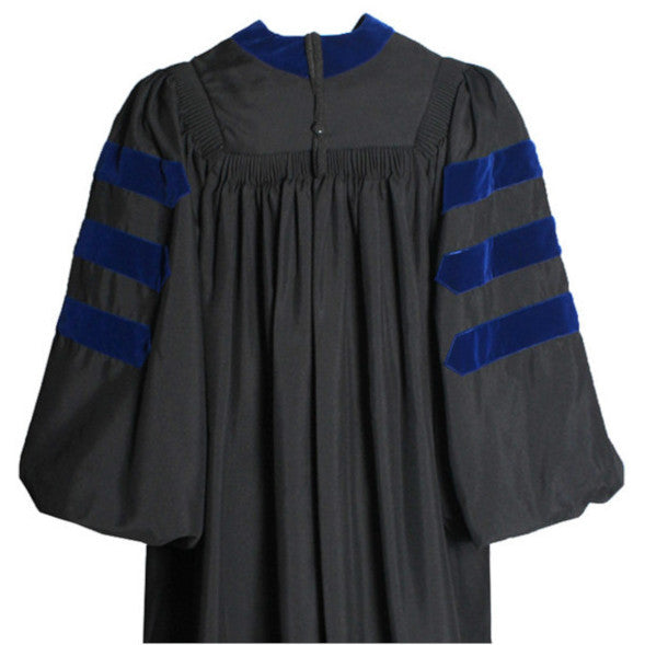 Deluxe Doctoral Gown - No Piping