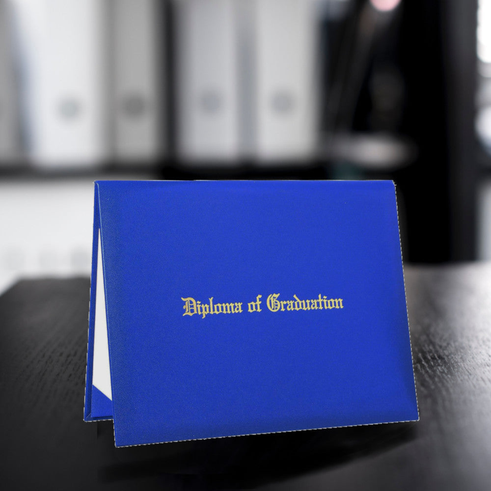 Royal Blue Diploma Case
