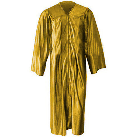 Shiny Gold Graduation Gown