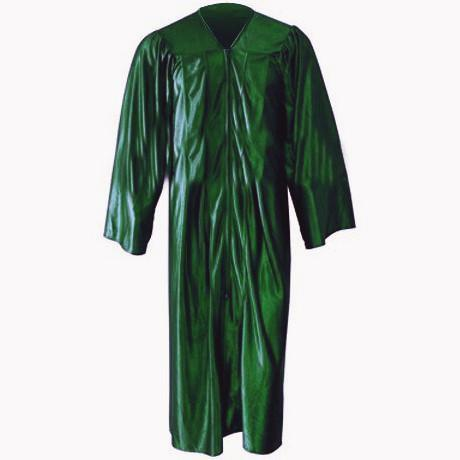 Kinder Shiny Kelly Green Gown