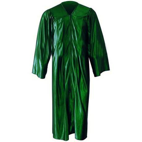 Shiny Kelly Green Gown
