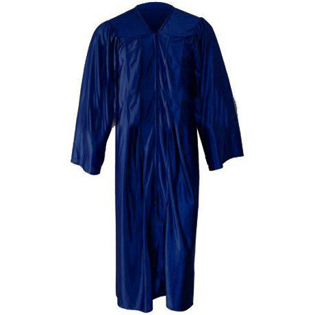 Kinder Shiny Navy Gown