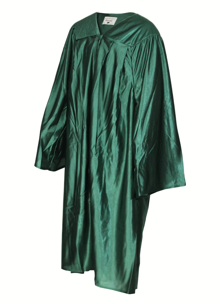 Shiny Hunter Green Choir Gown
