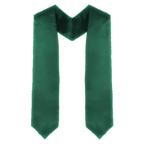 Custom Green Graduation Stole - Hunter Green