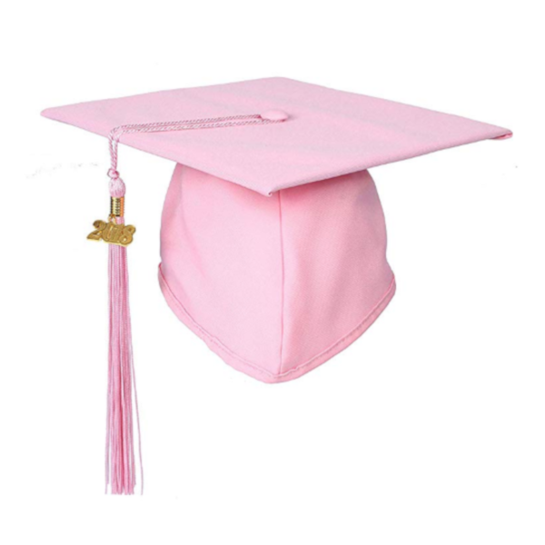 Matte Pink Graduation Cap and Tassel