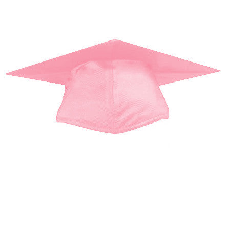 Shiny Pink Graduation Cap