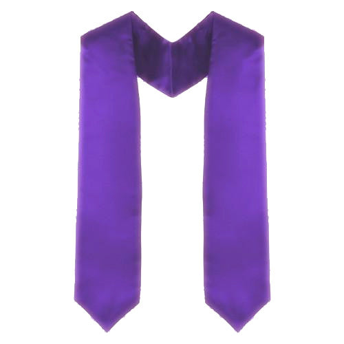 Custom Purple Graduation Stole