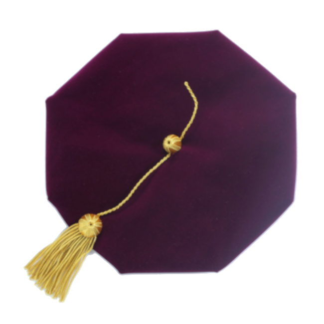 Purple Doctoral Tam