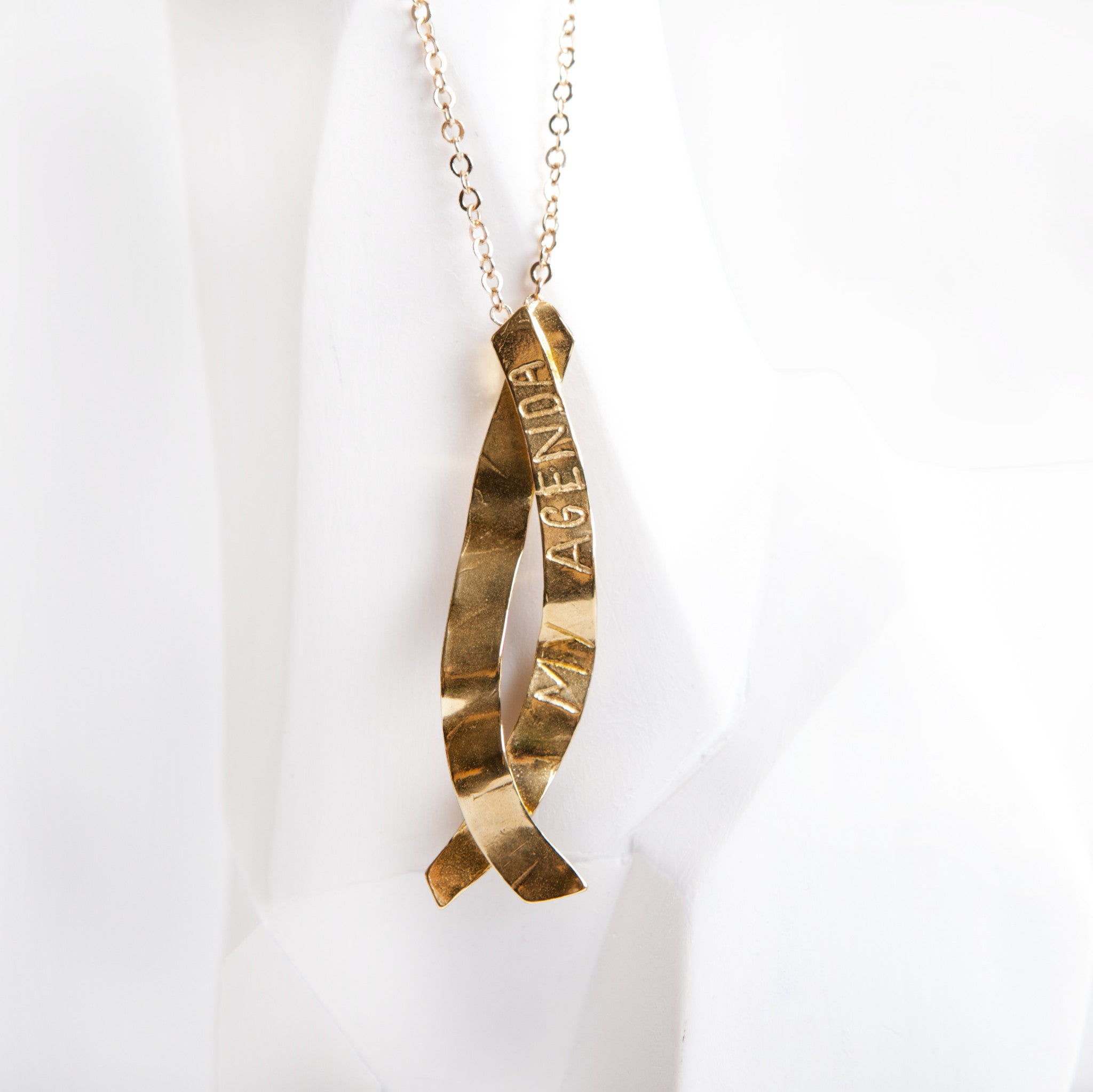 neckace necklace hexagon and products brass fawn gold rose
