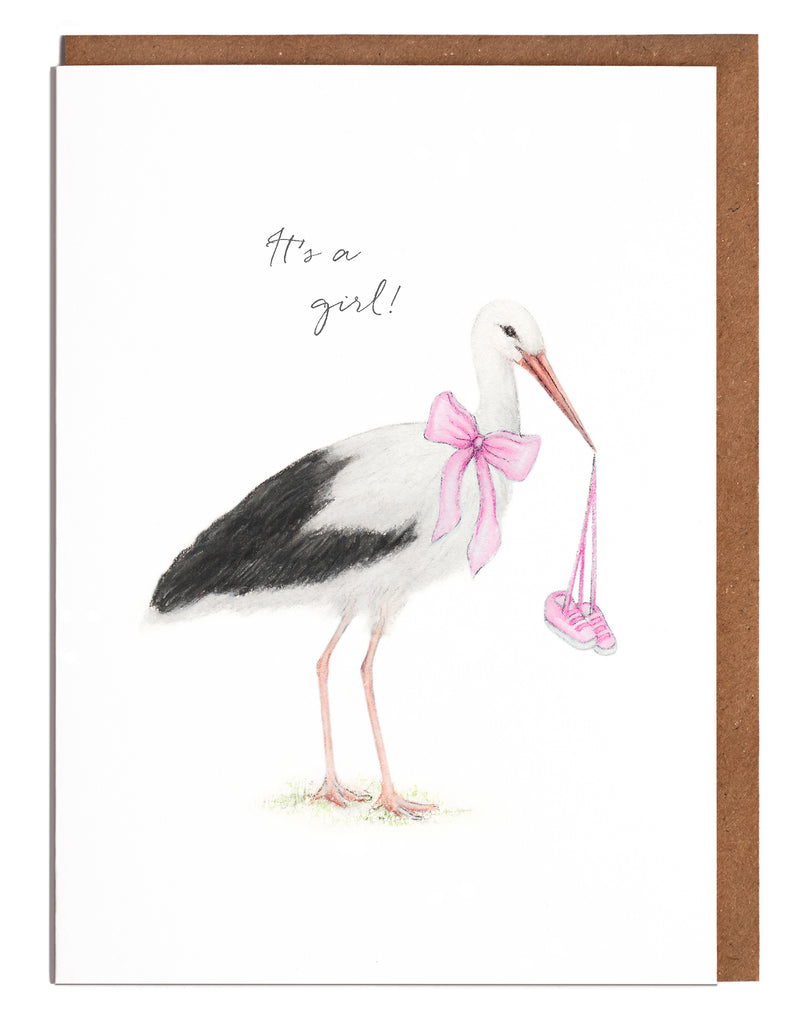 Stork New Baby Card