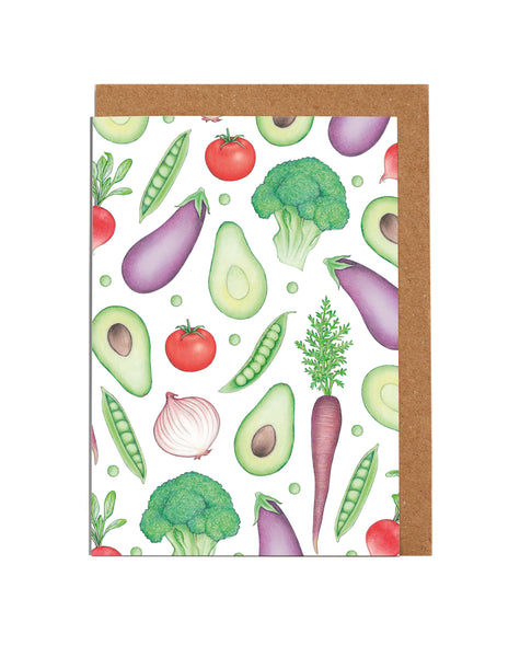 Fruit & Vegetable Note Cards (8 per box)