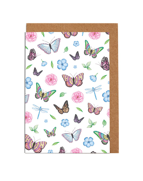 Bee & Butterfly Note Cards (8 per box)