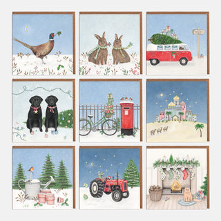 Multipack Christmas Cards (Lucky dip - 8 per pack)