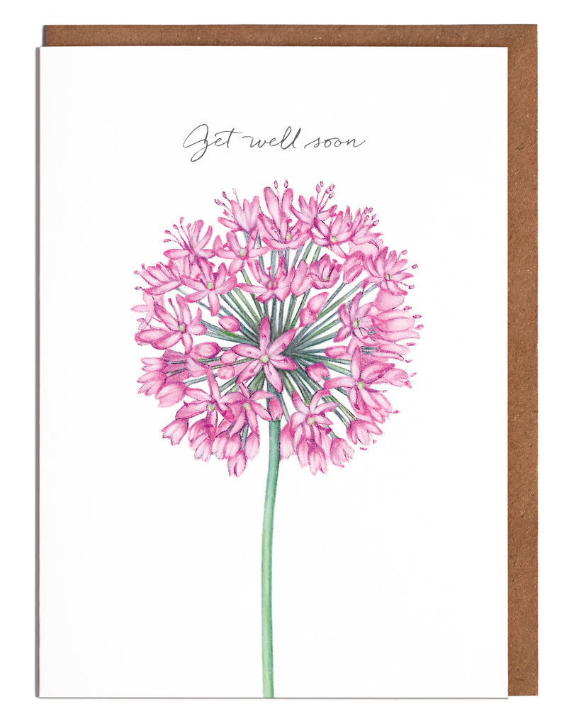 Allium Get Well Soon Card