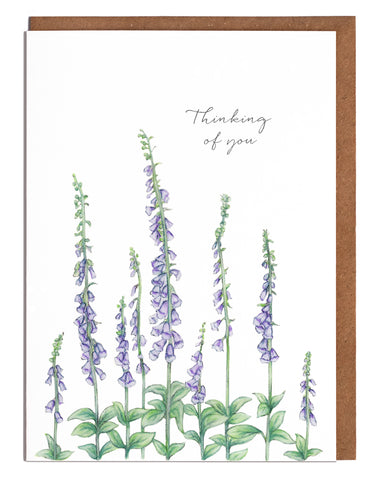 Foxgloves Thinking of You Card