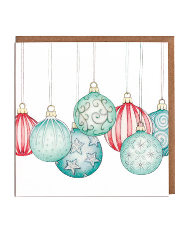 Bauble Christmas Cards