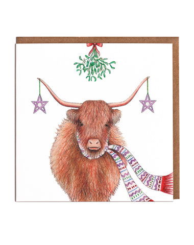 Highland Cow Christmas Cards