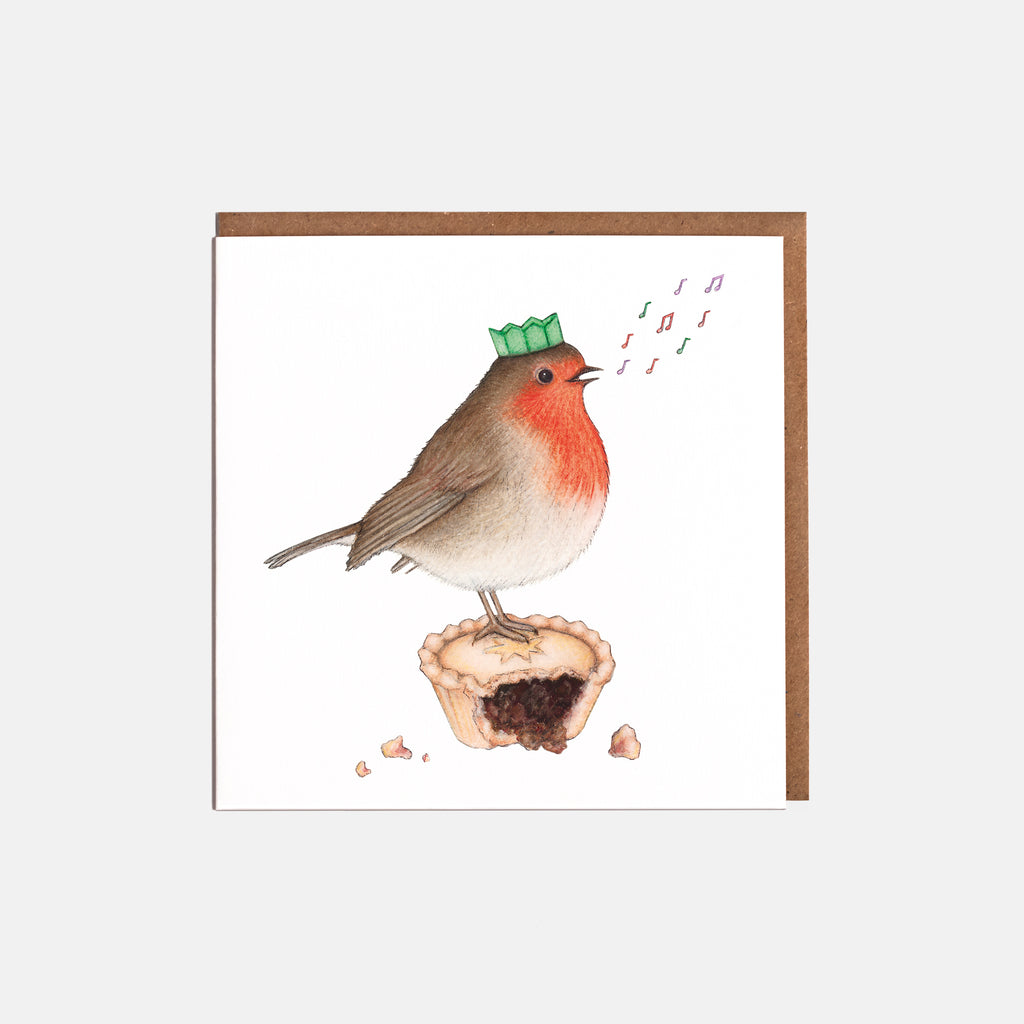 Robin & Mince Pie Christmas Cards