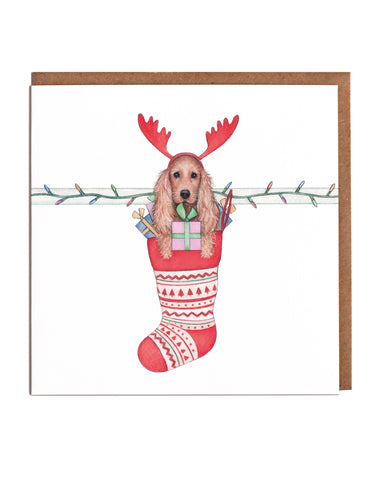 Spaniel & Stocking Christmas Cards