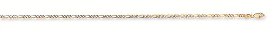 Yellow Gold Rhodium Plated Figaro Anklet TGC-AC0019