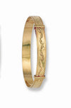 Yellow Gold D/C Expandable Baby Bangle TGC-BN0008