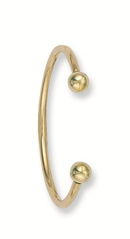 Yellow Gold Solid Baby Torque Bangle TGC-BN0013