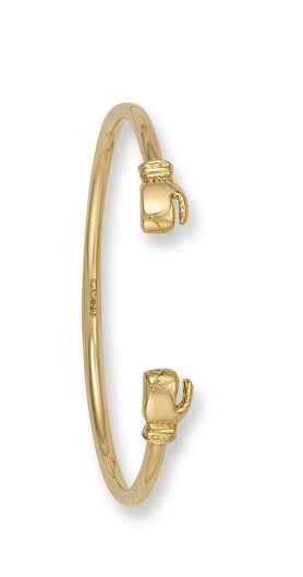 Yellow Gold Baby Boxing Glove Bangle TGC-BN0017