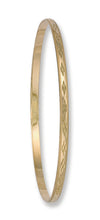 Yellow Gold 3mm D/C D - Shaped Slave Bangle TGC-BN0042