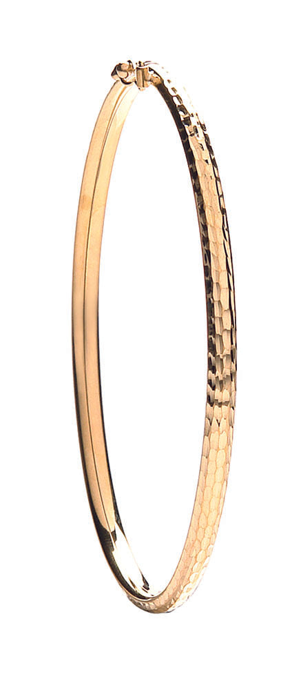 Yellow Gold D/C Fancy Bangle TGC-BN0402