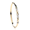 Yellow Gold Cz Bangle TGC-BN0408