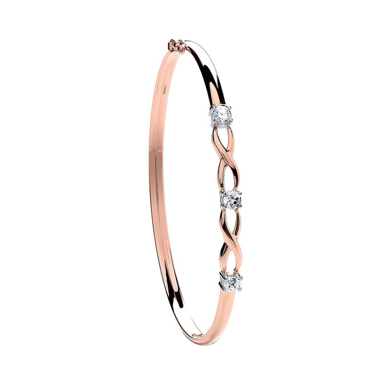 Rose Gold Cz Bangle  TGC-BN0425