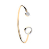 Yellow Gold Cz Torque Baby Bangle TGC-BN0432