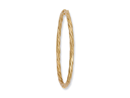 Yellow Gold Twisted Hollow Bangle TGC-BN0110