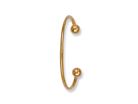 Yellow Gold Hollow Baby Torque Bangle TGC-BN0012
