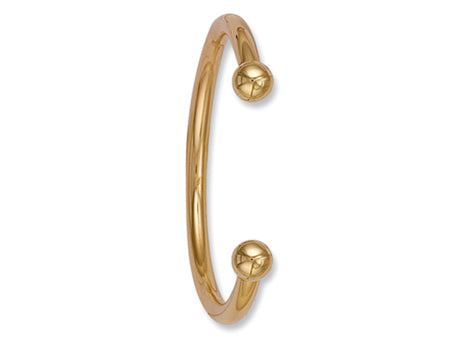 Yellow Gold Gents 6mm Torque Bangle TGC-BN0030
