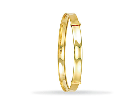 Yellow Gold Expandable ABC Baby Bangle TGC-BN0364