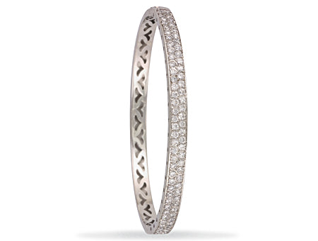White Gold Pave Set Cz Bangle TGC-BN0372