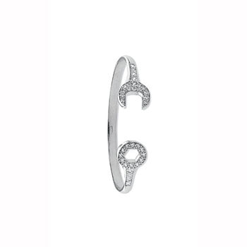 White Gold Baby Cz Spanner Bangle TGC-BN0379