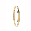 Yellow Gold Cz Heart D/C Expandable Baby Bangle TGC-BN0384