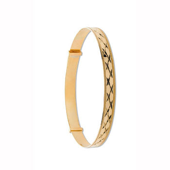 Yellow Gold D/C Expandable Slave Bangle TGC-BN0397