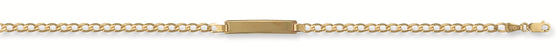Yellow Gold Ladies Curb ID Bracelet TGC-BR0009-LB