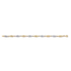 White & Yellow Gold Fancy Hollow Link Bracelet  TGC-BR0599