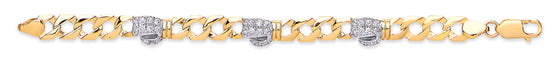 Yellow Gold Baby Cz Boxing Glove Bracelet TGC-BR0609