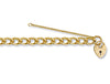 Yellow Gold Open Curb & Padlock Charm Bracelet TGC-BR0021