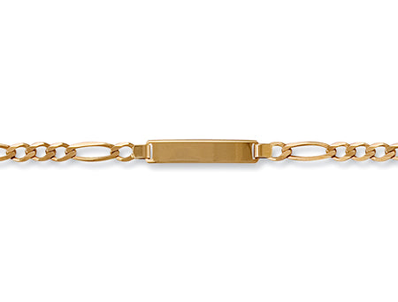 Yellow Gold Ladies Figaro ID Bracelet TGC-BR0397-LB