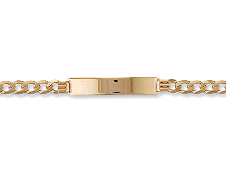 Yellow Gold Ladies/Gents Curb ID Bracelet TGC-BR0040