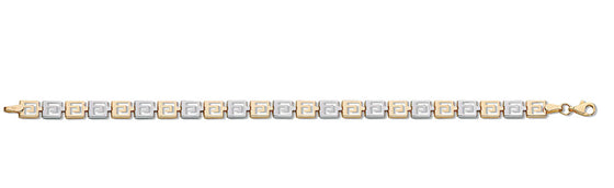 White & Yellow Gold Greek Key Bracelet TGC-BR0573