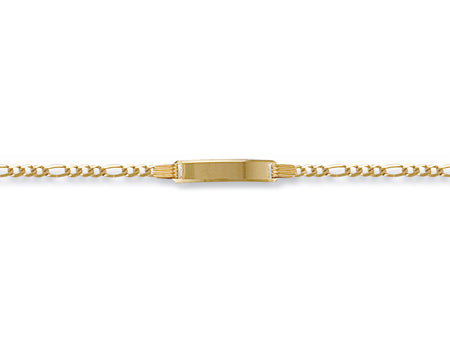 Yellow Gold Ladies Figaro ID Bracelet TGC-BR0007-LB