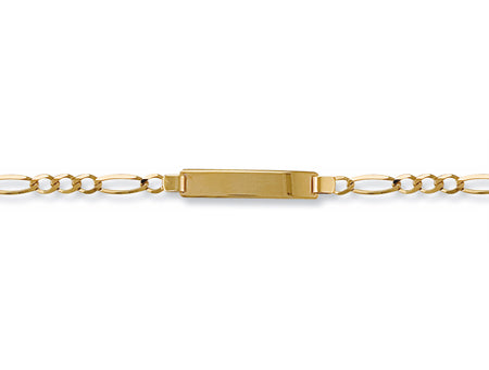 Yellow Gold Ladies Figaro ID Bracelet TGC-BR0008-LB